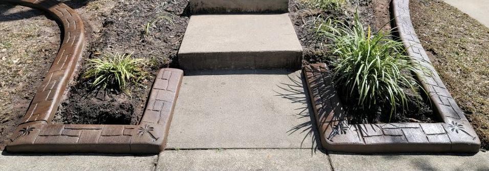 decorative concrete curbing near me