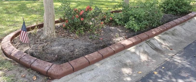 concrete curb edging