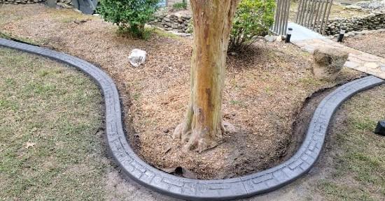 decorative concrete edging